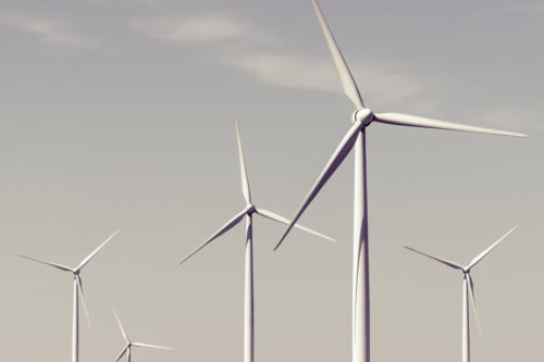 Wind turbines against sky - slon.pics - free stock photos and illustrations