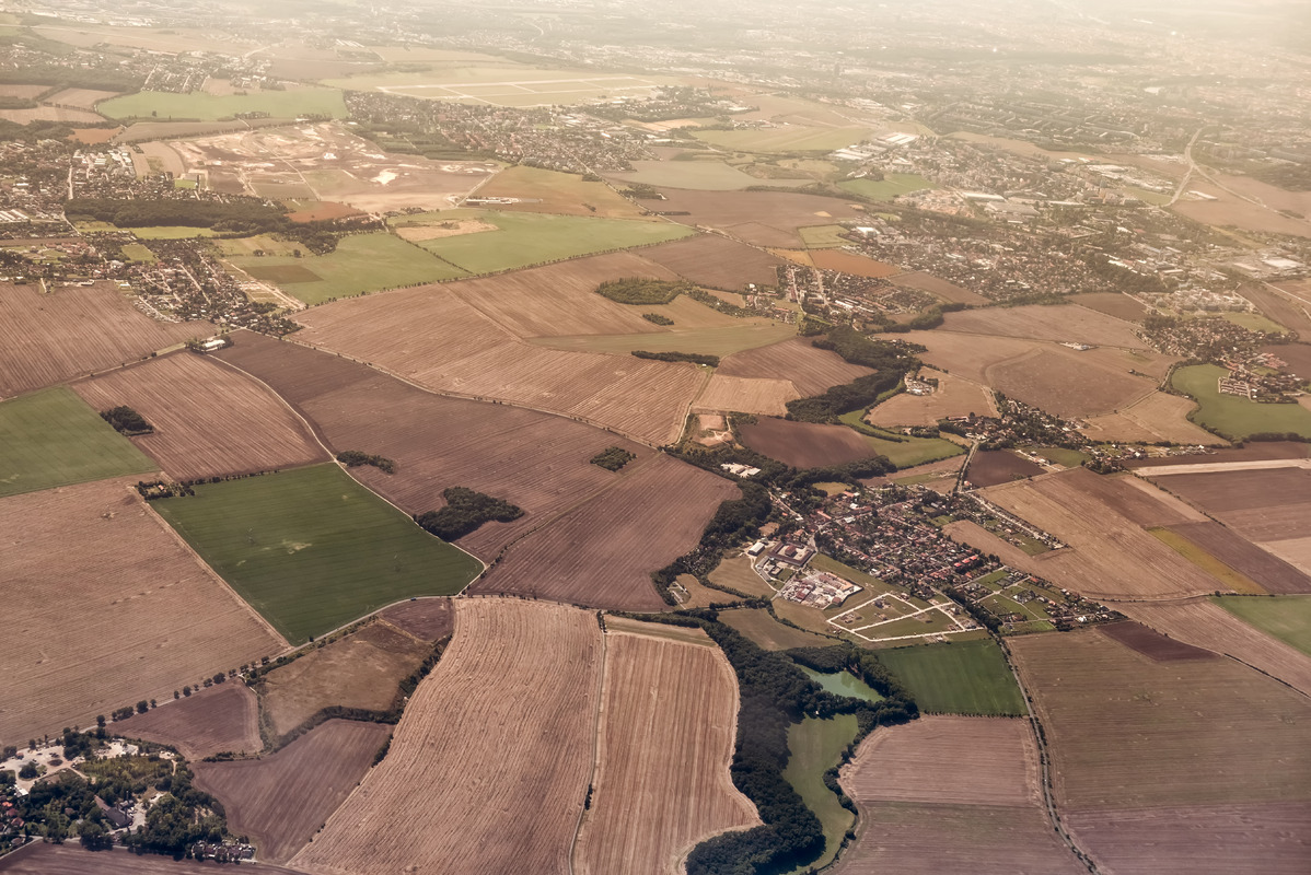 Aerial view of agricultural fields - slon.pics - free stock photos and illustrations