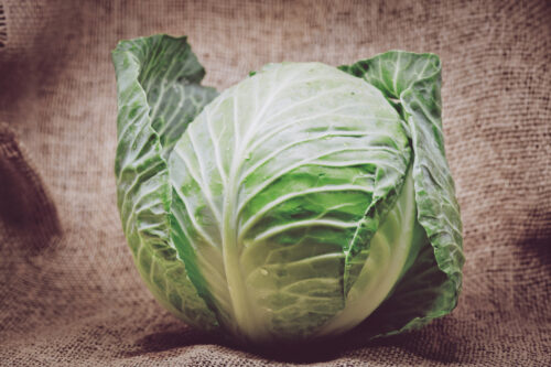 Cabbage on burlap background - slon.pics - free stock photos and illustrations