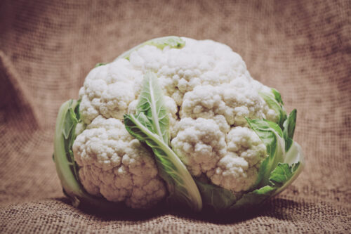Cauliflower on burlap background - slon.pics - free stock photos and illustrations