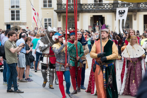 Celebration of the 700th anniversary of King Charles IV's coronation. Prague, Czech Republic. September 04, 2016 - slon.pics - free stock photos and illustrations