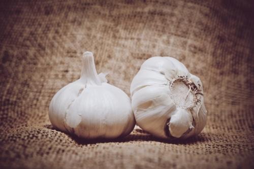 Garlic on burlap background - slon.pics - free stock photos and illustrations