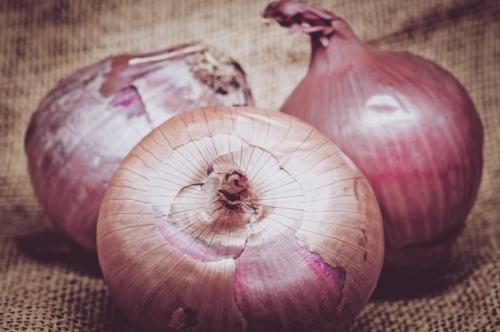Onions on burlap - slon.pics - free stock photos and illustrations