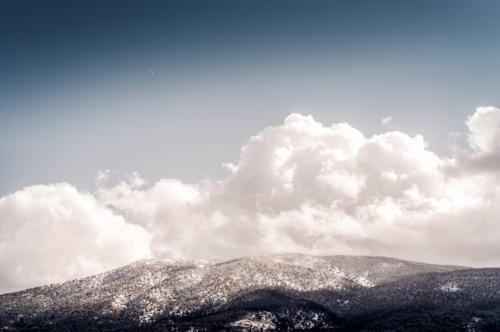 Snowcovered forest. Mountain landscape - slon.pics - free stock photos and illustrations