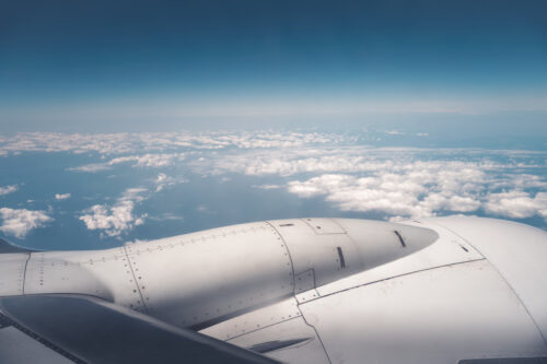 View from airplane - slon.pics - free stock photos and illustrations