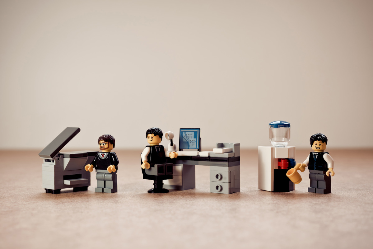 Colleagues working in the office - slon.pics - free stock photos and illustrations