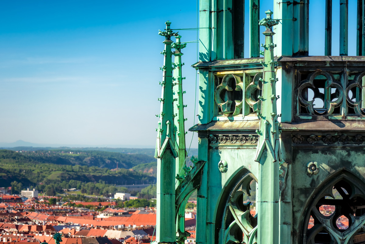 Gothic Pinnacle of St Vitus Cathedral. Prague, Czech Republic - slon.pics - free stock photos and illustrations