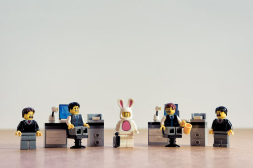 Rabbit in the office - slon.pics - free stock photos and illustrations