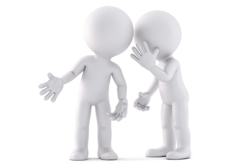 Whispering a secret. 3D illustration. Isolated. Contains clipping path - slon.pics - free stock photos and illustrations
