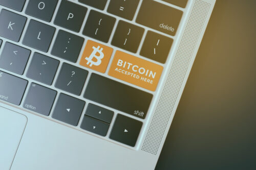 Keyboard with Bitcoin virtual currency symbol - slon.pics - free stock photos and illustrations