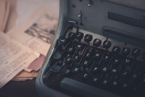 Vintage typewriter on an author's desk - slon.pics - free stock photos and illustrations