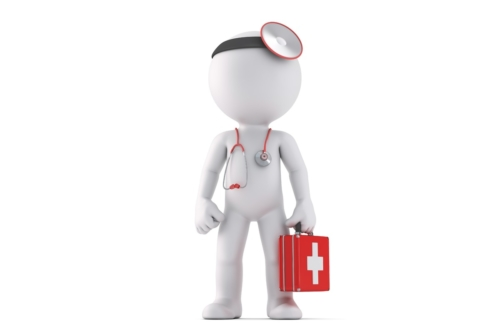 3d Medic. Isolated. Contains clipping path - slon.pics - free stock photos and illustrations