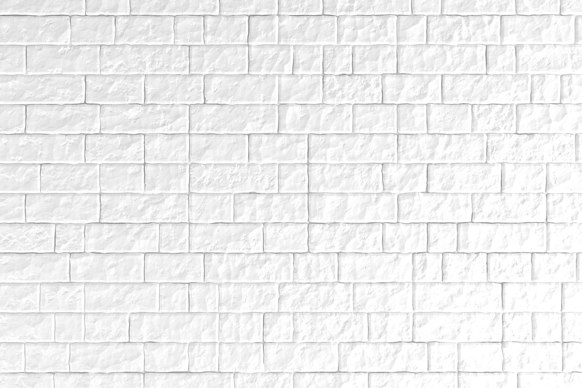 A white brick wall. 3D illustration - slon.pics - free stock photos and illustrations