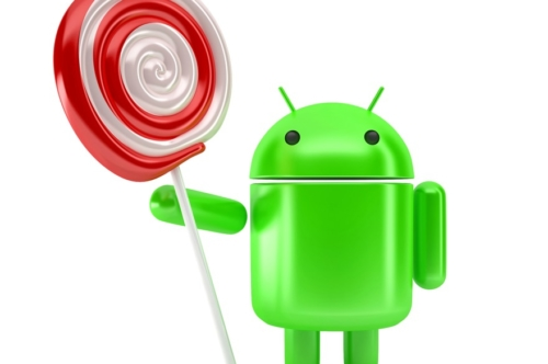 Android Robot with lollipop. Technology concept. 3D illustration. Isolated Contains clipping path. - slon.pics - free stock photos and illustrations
