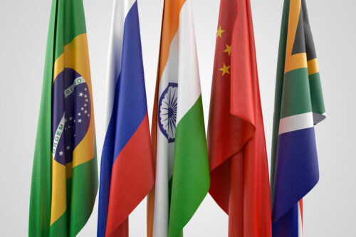 BRICS. 3D illustration. Contains clipping path - slon.pics - free stock photos and illustrations