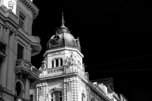 Baroque style residential building facade. Belgrade, Serbia - slon.pics - free stock photos and illustrations