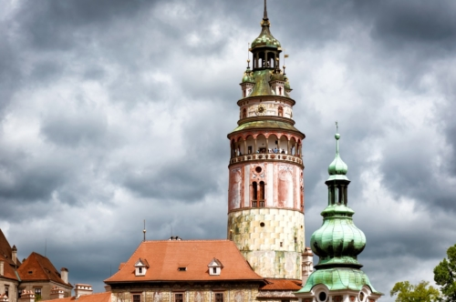 Castle Tower. Cesky Krumlov, Czech Republic - slon.pics - free stock photos and illustrations