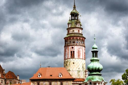 Castle Tower. Cesky Krumlov, Czech Republic - slon.pics - free stock photos and illustrations