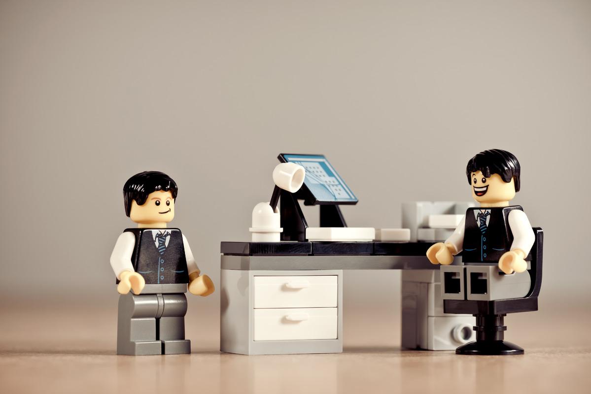 Conducting job interview - slon.pics - free stock photos and illustrations