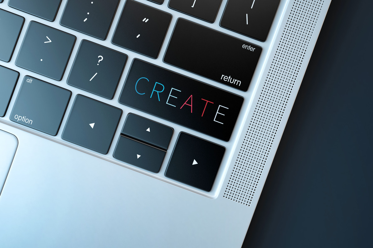Create. Technology concept - slon.pics - free stock photos and illustrations