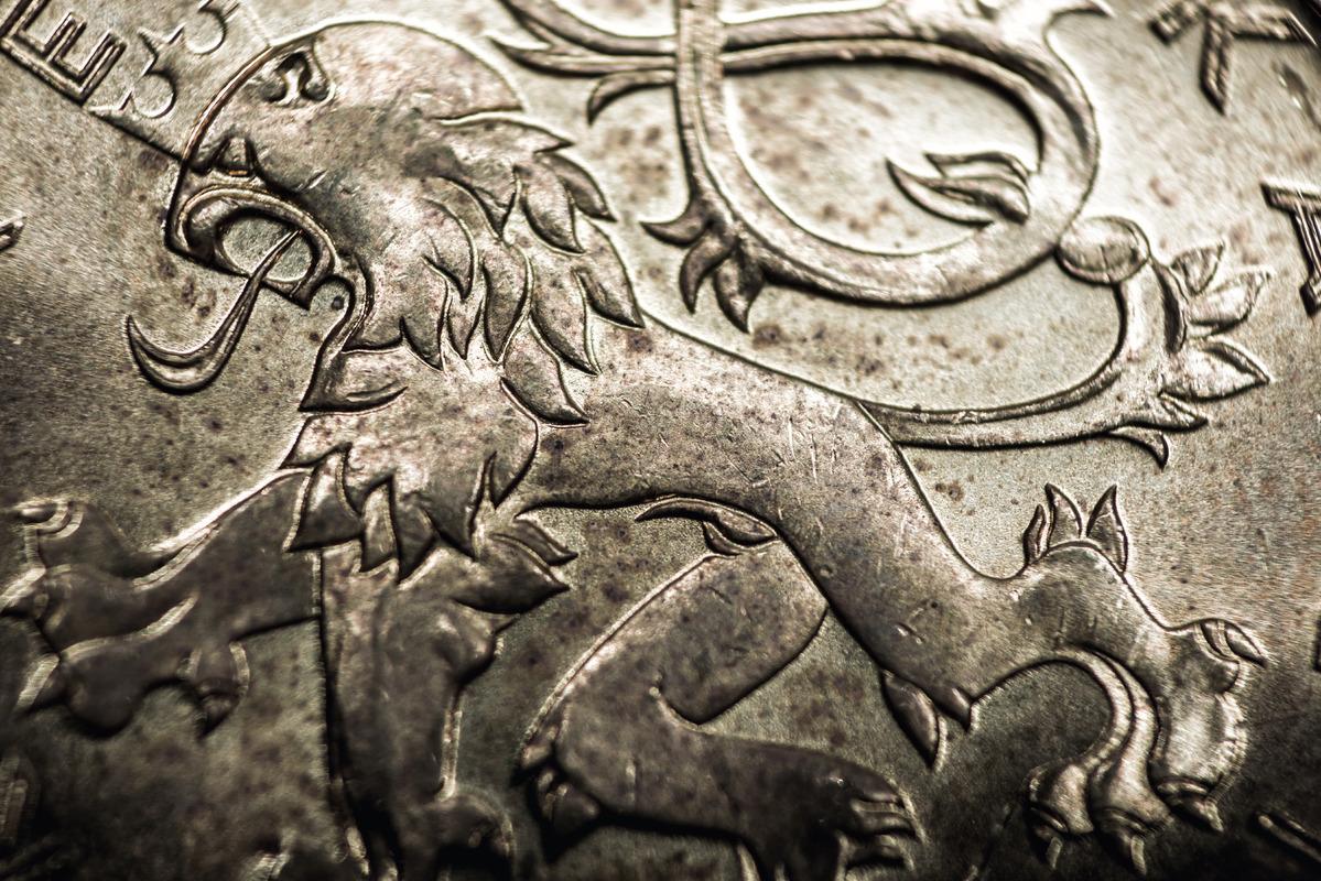 Czech Koruna coin close-up - slon.pics - free stock photos and illustrations
