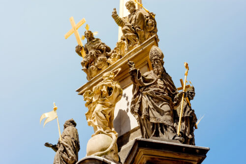 Detail of the Holy Trinity Column. Lesser Town, Prague, Czech Republic - slon.pics - free stock photos and illustrations