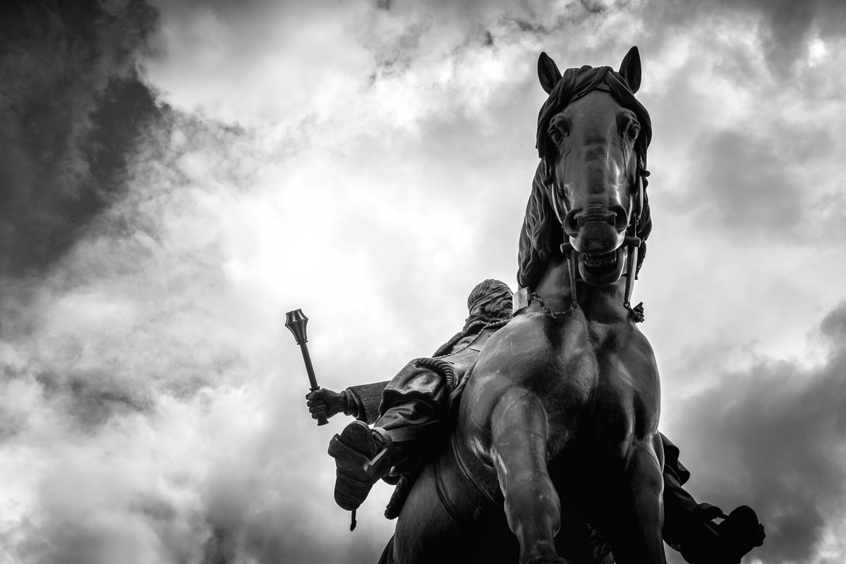 Equestrian Statue of Jan Zizka at Czech National Museum on Vitkov hill - slon.pics - free stock photos and illustrations