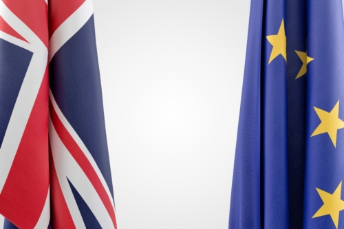 Flags of European Union and United Kingdom - slon.pics - free stock photos and illustrations