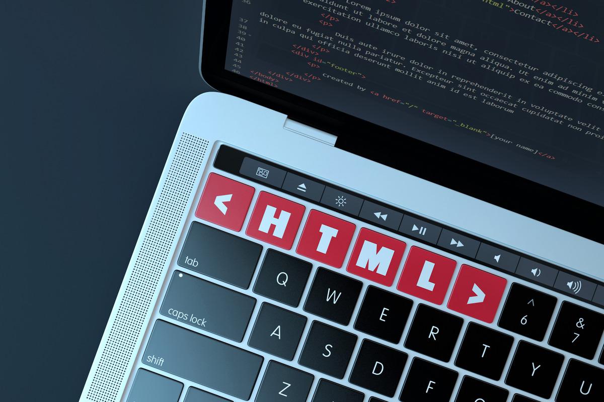 HTML. Web development concept - slon.pics - free stock photos and illustrations