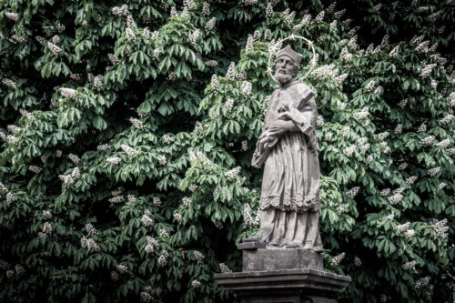 John of Nepomuk statue at Safarikovy sady. Plzen, Czech Republic - slon.pics - free stock photos and illustrations