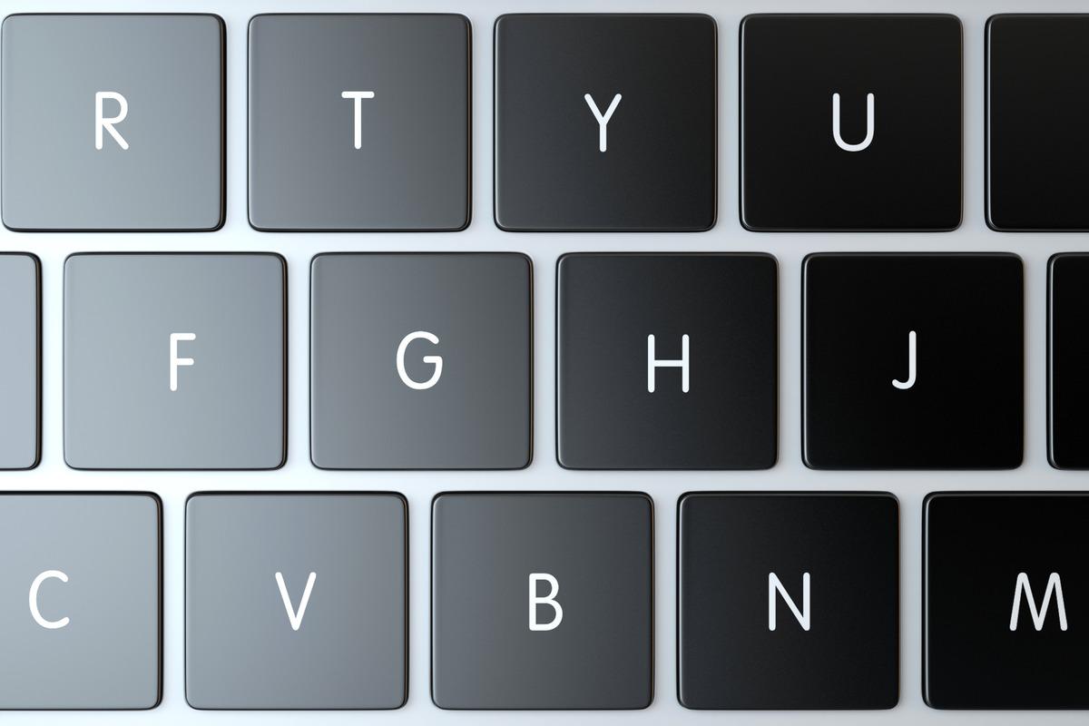 Laptop keyboard close-up. 3D illustration - slon.pics - free stock photos and illustrations