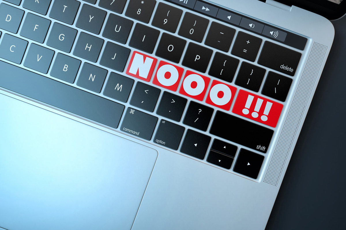 NOOO!!! Text sign on computer keyboard - slon.pics - free stock photos and illustrations
