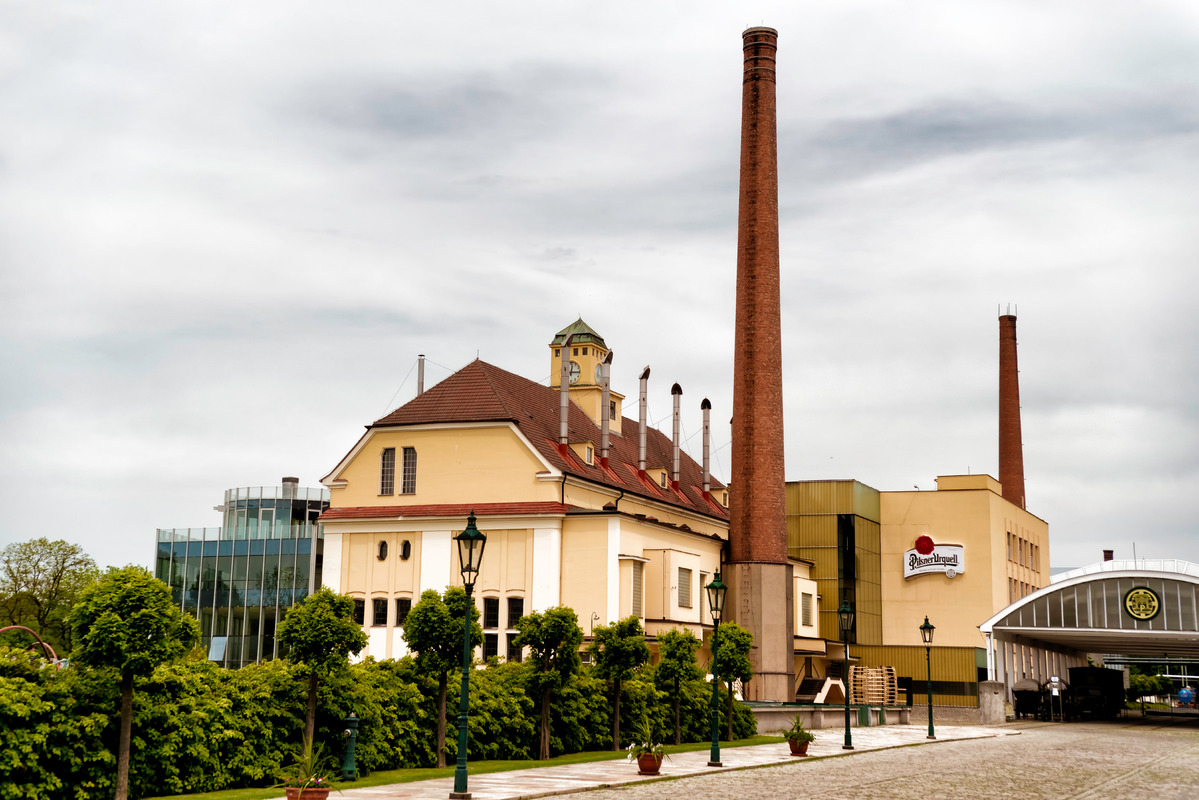 Pilsner Urquell Brewery. Plzen (Pilsen), Czech Republic, May 22, 2017 - slon.pics - free stock photos and illustrations