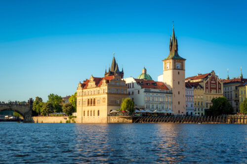 Prague riverside. Czech Republic - slon.pics - free stock photos and illustrations