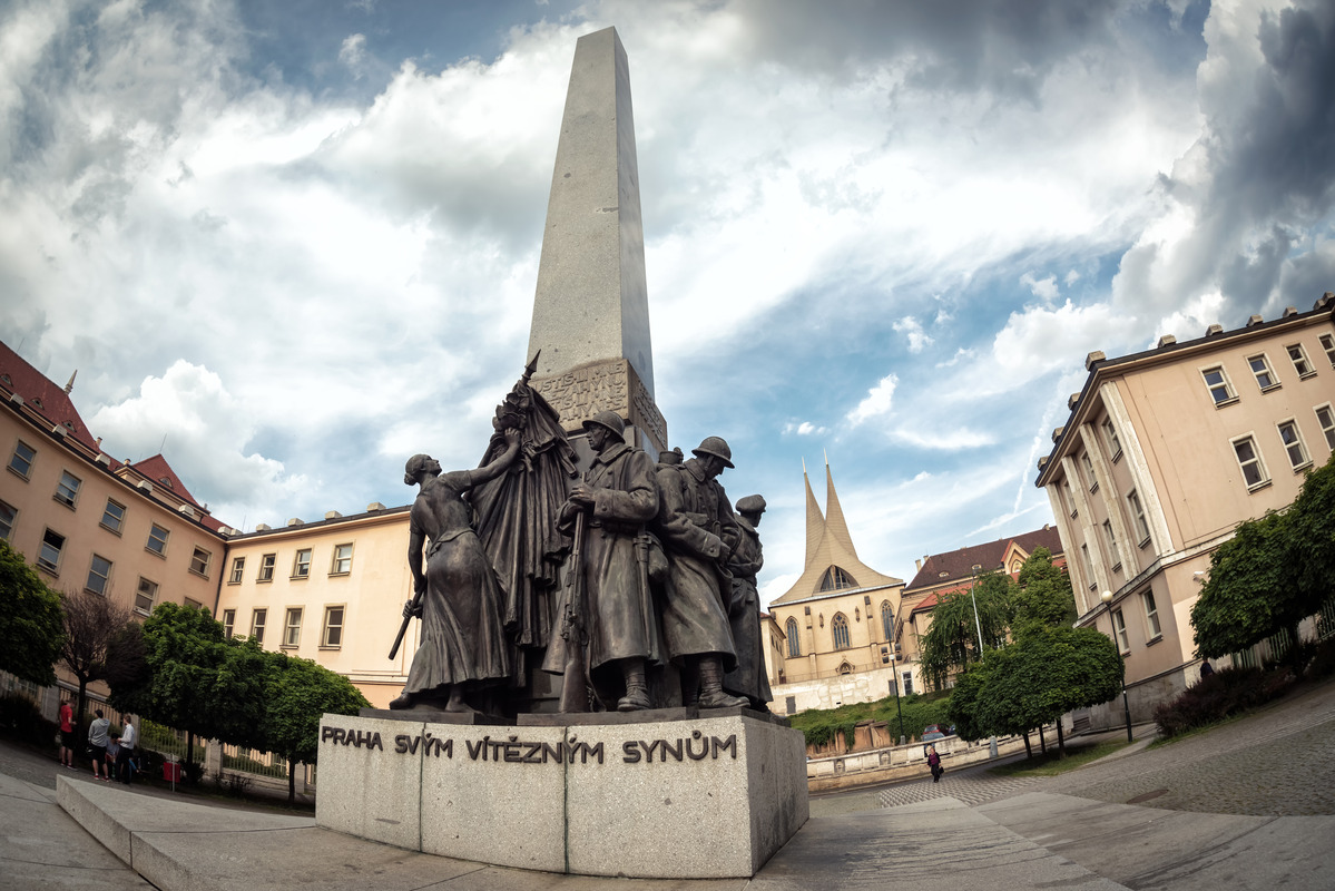 Prague to Its Victorious Sons. Memorial at Palacky Square. Prague, Czech Republic - slon.pics - free stock photos and illustrations