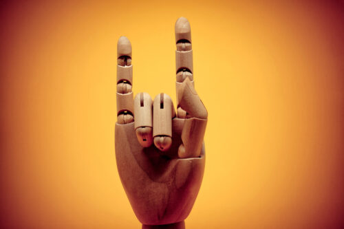 ROCK ON and gesture - slon.pics - free stock photos and illustrations