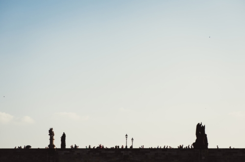 Silhouette of Charles Bridge. Prague, Czech Republic - slon.pics - free stock photos and illustrations