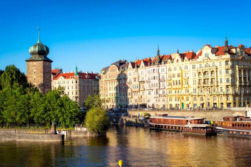 Sitkovska Water Tower. Prague, Czech Republic - slon.pics - free stock photos and illustrations