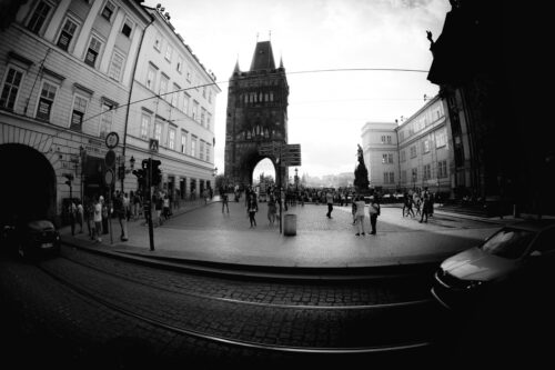 Square of knights of the cross. Prague, Czech Republic, May 23, 2017 - slon.pics - free stock photos and illustrations