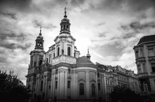 The Church of Saint Nicholas in the Old Town of Prague. Prague, Czech Republic - slon.pics - free stock photos and illustrations