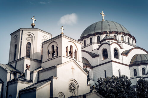 The Church of Saint Sava. One of the largest Orthodox churches in the world. Belgrade, Serbia - slon.pics - free stock photos and illustrations