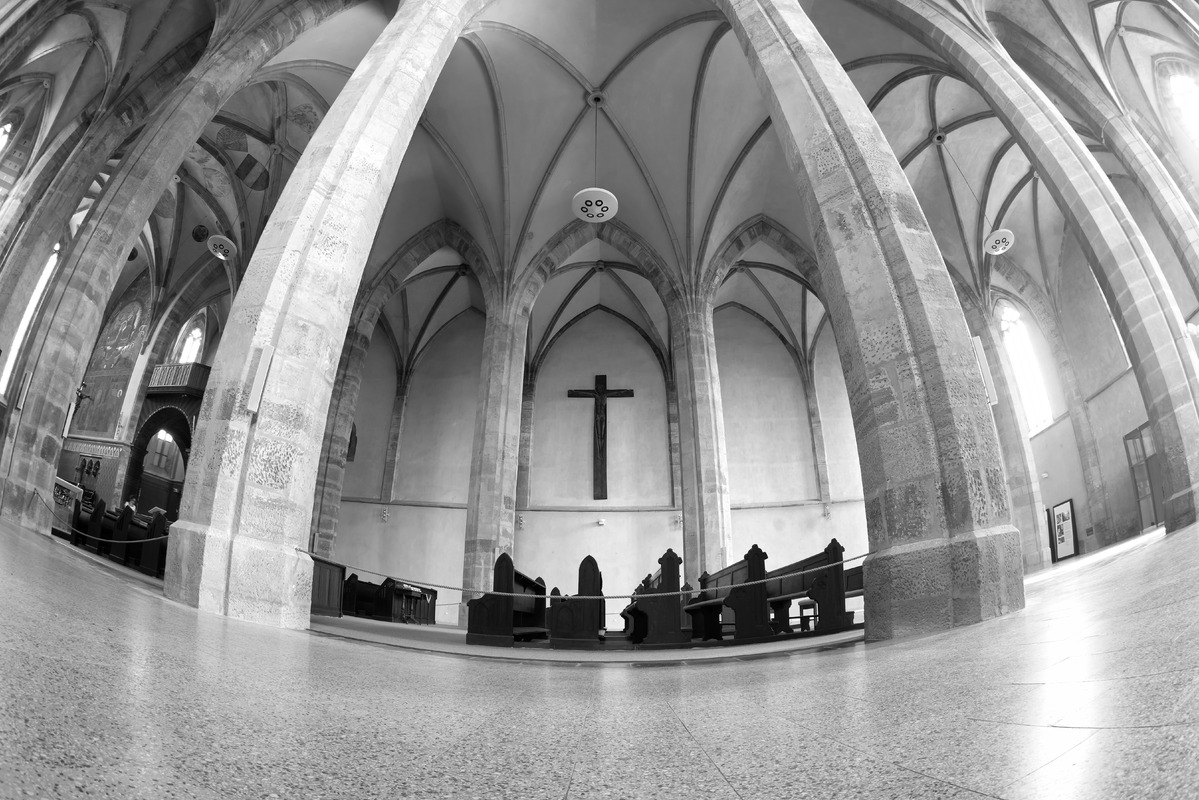 The nave of Emmaus monastery. Prague, Czech Republic - slon.pics - free stock photos and illustrations