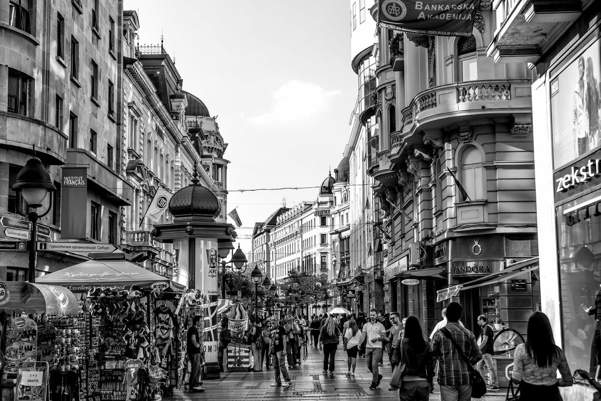 View of Knez Mihailova Street. Belgrade, Serbia. September 23, 2015 - slon.pics - free stock photos and illustrations