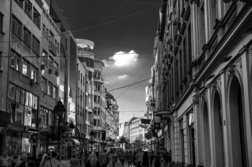 View of Knez Mihailova Street. Belgrade, Serbia. September 23, 2015 - slon.pics - free stock photos and illustrations