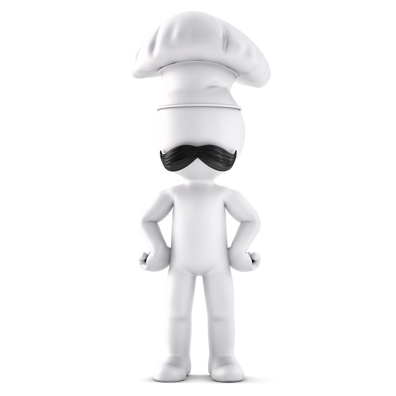 3d chef. 3D illustration. Isolated. Contains clipping path - slon.pics - free stock photos and illustrations