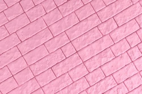 A pink brick wall. 3D illustration - slon.pics - free stock photos and illustrations
