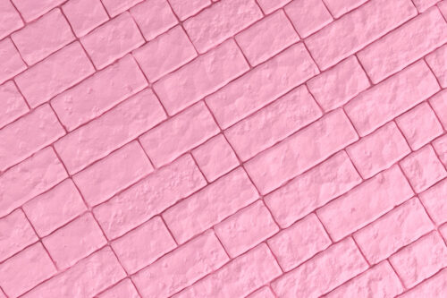 A pink brick wall. 3D illustration - slon.pics - free stock photos and illustrations