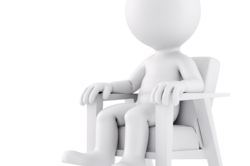 Man sitting on a chair. 3D illustration. Isolated. Contains clipping path - slon.pics - free stock photos and illustrations