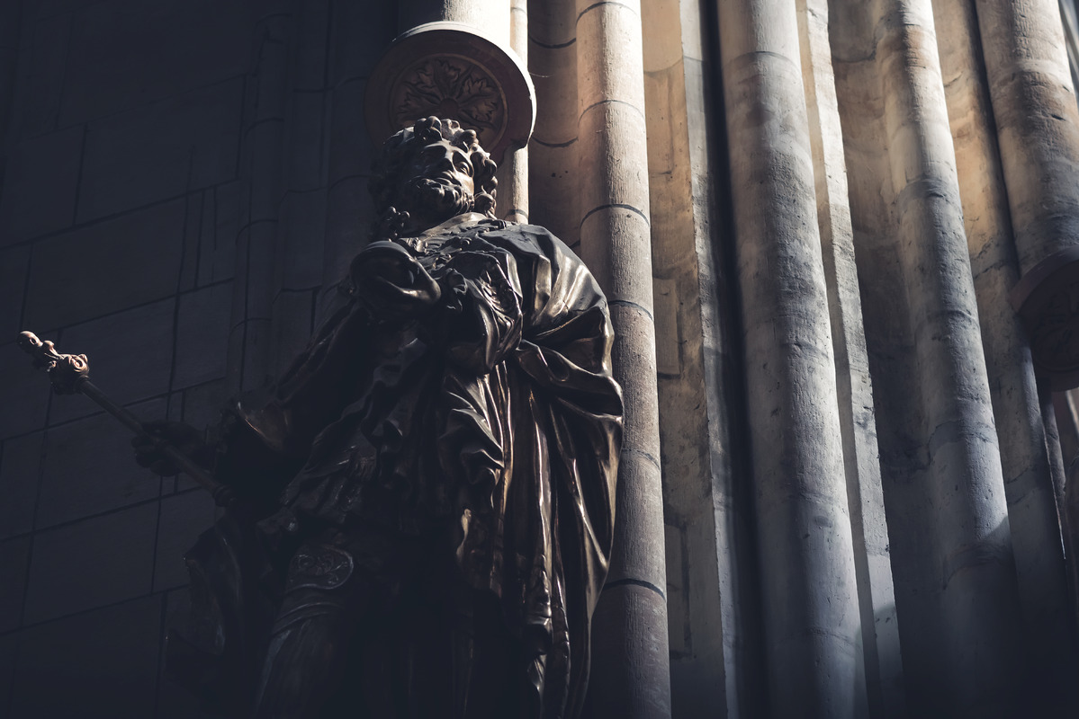 Sculpture in St. Vitus Cathedral. Prague, Czech Republic - slon.pics - free stock photos and illustrations