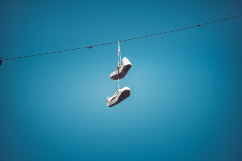 Shoes hanging on the power line - slon.pics - free stock photos and illustrations